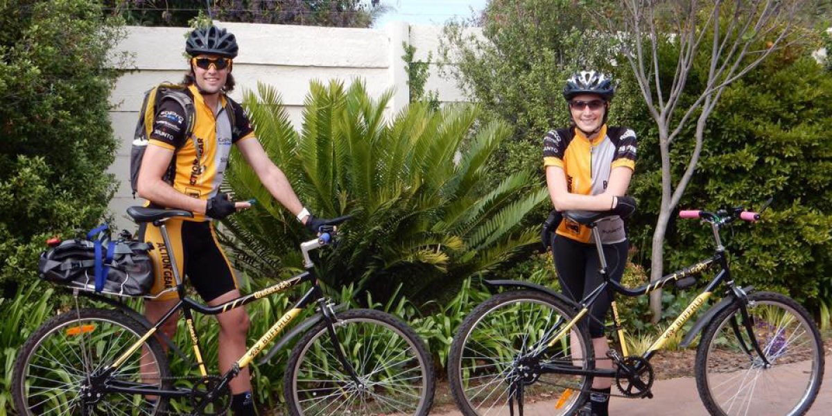 Camilla and Warrick with there Qhubeka's
